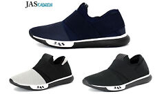 Mens Slip On Running Trainers Casual Sneakers Designer Fashion Gym Shoes UK Size