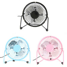 "4"" Metal Portable Mini USB Cooling Desk Fan Super Mute Cooler PC Laptop Computer"