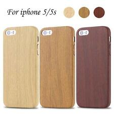 New Imitation Wood Grain Wooden Pattern Soft PU Phone Case Cover for iPhone 5/5s