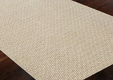 Hand Knotted Flat Weave Wool Area Rug Reversible Modern 3x5 5x8 8x10 Ivory Beige