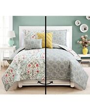 Reversible Quilt Sets 5 Piece Evangeline Cover Beadspread Full Queen King Size