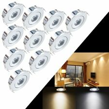 10x1W LED Recessed Small Cabinet Mini Spot Lamp Ceiling Downlight Kit Fixture