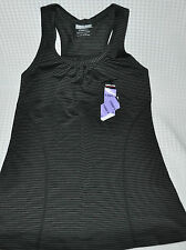 NWT Ladies Kirkland Signature Scoop Neck Active Yoga Mini Stripe Tank Top