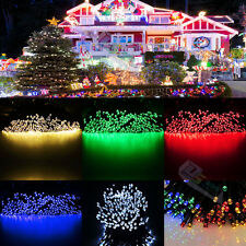 Solar Powered 200 LED String Fairy Light Garden Outdoor Xmas Party Decor Lamp
