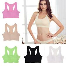 Womens Stretch Sports Padded Bras Bustier Crop Tank Top Gym Yoga Athletic Vest