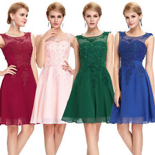 Short Formal Beads Wedding Party Prom Dress Bridesmaid Evening Cocktail Dresses