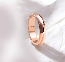 Smooth 14K Rose Gold Filled Womens Mens Boys Band Ring 5 6 7.5 8 9 10 11 12 13.5