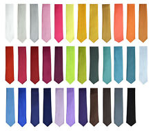 "Fashion New Style Men's Unisex Solid Plain Neck ties Wide 2"" 33 Color"