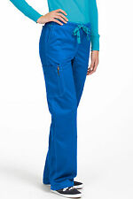 MC2 by Med Couture Women's Layla Flare Leg Cargo Scrub Pant 8741-Royal