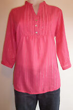 womens shirt size 10 - 22 top tunic cotton top 3/4 sleeve plus size shirt NEW