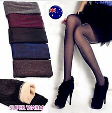 Women Lady Winter Fleece Shimmer thermal Warm Thick Pantyhose Stockings Tights