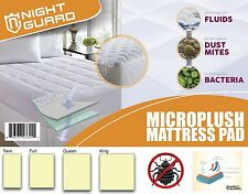 Mattress Pad - Micro plush Hypoallergenic Overfilled