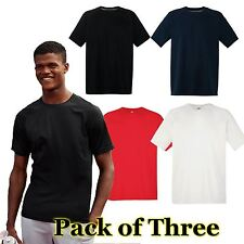 Mens Fruit of the Loom 3 Pack Performance T Shirt,  Mens T-shirt 4 Colours