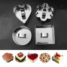New 5 Style Stainless Steel Mousse Cake Ring Mold Layer Slicer Cook Cutter DIY