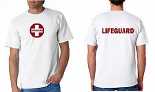 Lifeguard Shirt T Shirt Lifeguar Cross in Circle Just Basic White Red Image