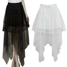 Vogue Sexy Lace Skirts Womens Long Section Skirt Jupe Tulle Short Skirt hot