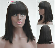 Short Bob Human Hair Lace Front Wigs Blace Women Indian Glueless Remy Hair Wig