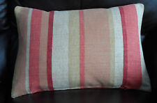 LAURA  ASHLEY FABRIC ~ RIPLEY BURNT ORANGE CUSHION 17 x 11 inch COMPLETE CUSHION