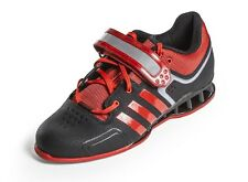 New Men's ADIDAS - M21865 Black and Red Adipower Weightlifting Sneakers
