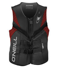 Oneill Reactor Mens Neoprene CGA Life Vest Graphite w Red 2016