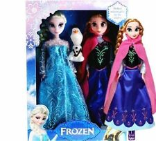 3 PCS hotsale Playset Frozen Princess Elsa&Anna&Olaf Doll Figures Birthday Gift*