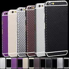 Carbon Fibre Body Skin cover case Protector Wrap Sticker Decal For iPhone WKCA