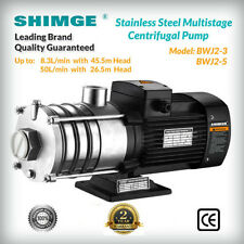 Shimge Stainless Steel Multi-Stage Centrifugal Pump up to 45.5m NO POWER LEAD