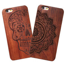 Natural Carved Wooden Wood Bamboo Pattern Hard Case Cover For iPhone 5 5s SE