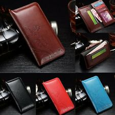 Luxury Leather Wallet Card Photo Holder Slots Case Cover For Samsung Galaxy