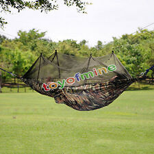 Portable Travel Jungle Camping Outdoor Hammock Hanging Nylon Bed /+ Mosquito Net