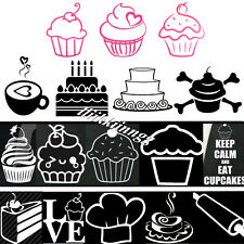 Cherry Cupcake Cakes Ice Cream Sticker Vinyl Decal Car Window Wall Decor Gift