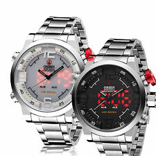 OHSEN Mens Oversized Military Army Digital Analog Sport Quartz Watch WaterProof