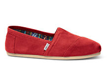 TOMS Mens Shoes Red Canvas Classic Espadrilles Casual Slip On Flats Loafers