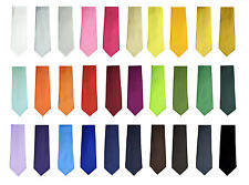 Fashion New Style Men's Unisex Solid Plain Neck ties Wide 3 inches 30 Color
