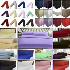 Luxury Polly Cotton Fitted, Valance, Flat Sheets & Pillow Cases & V Shape Pillow