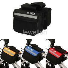 Bicycle Cycling Bike Top Frame Front Tube Saddle Pannier Double bag Phone Pouch