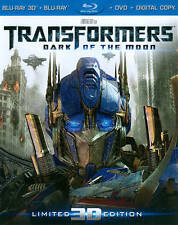 Transformers Dark Of The Moon 3D Blu-ray & DVD (4 Disc Set w/ Slipcover  (B73)