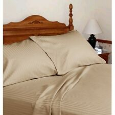 3PC's Duvet Cover Set 1200 Thread Count Egyptian Cotton Taupe Stripe