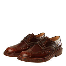 New Mens Grenson  Archie Triple Welt Shoes - Mahogany 100% Leather