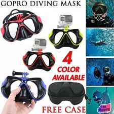 Diving Mask with GoPro Bracket Snorkelling Snorkel Scuba Swimming Goggles Sports