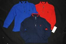 new Ralph Lauren polo Baby Boys Quarter-Zip Mock Neck Ribbed Sweater  2T 3T 4T