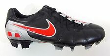 Nike Men's TOTAL90 STRIKE III L-FG Soccer Cleats Black/Red/Silver 385405-061 a6