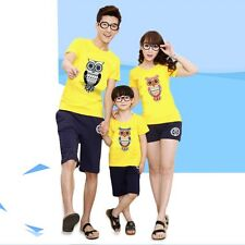 Summer Family Short Sleeve T-Shirt Pullover Clothes Dad Mum Baby Shirt Tops TEES