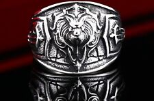 Lion Ring Stainless Steel Men S Biker 316l Silver Gothic Size Cool Jewelry Punk
