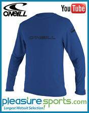 O'Neill Men's Rashguard Basic Skins Long Rash Guard Tee 50+ UV Protection Blue