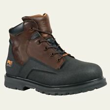 "Timberland Pro Boots Mens PowerWelt 6"" Steel Toe Waterproof Brn Work Boot 47001"