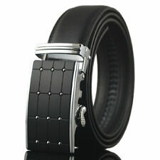 New Men's Genuine Leather Automatic Buckle Fashion Waist Strap Belt Waistband