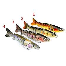 1pcs Plastic Hard Fishing Lures 8-Section Multi Jointed Swim Bait Treble Hooks