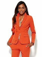 New York & Company 7th Avenue Design Runway Fit Tie-Front Double Stretch Jacket
