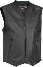 River Road Men's Brute Leather Motorcycle Riding Vest - Closeout